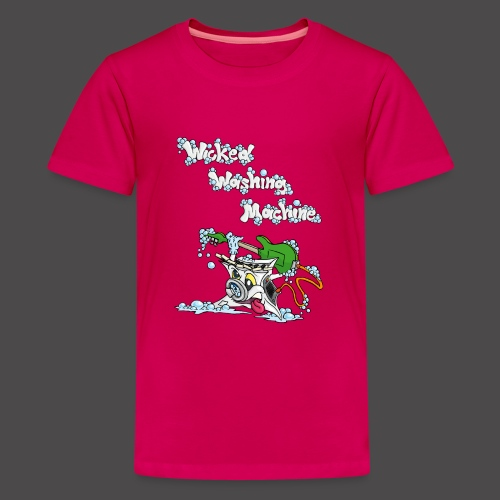 Wicked Washing Machine Cartoon and Logo - Teenager Premium T-shirt
