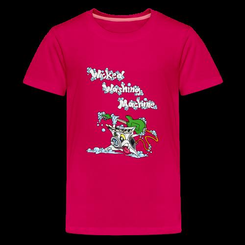 Wicked Washing Machine Cartoon and Logo - Teenager Premium T-shirt