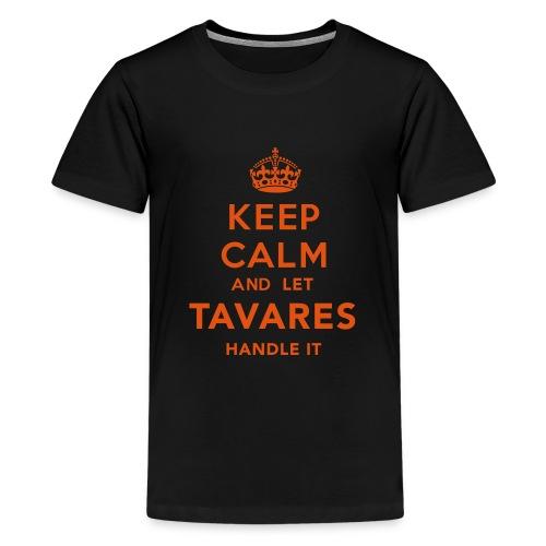 Keep Calm Tavares - Premium-T-shirt tonåring