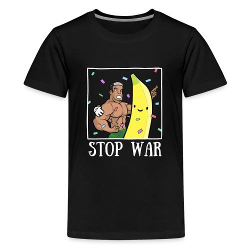 Stop War Banane Musculation - T-shirt Premium Ado