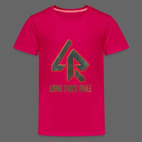 Lame Puns Rule: Logo - Teenage Premium T-Shirt