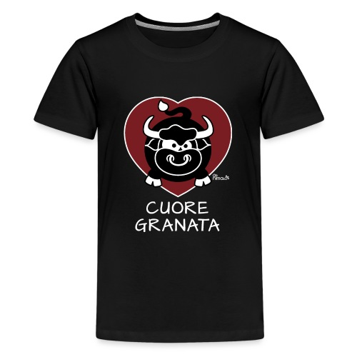 Torino Cuore Granata, Football Club, Calcio Italia - T-shirt Premium Ado