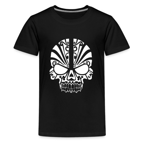 tribal skull white - Teenager Premium T-Shirt
