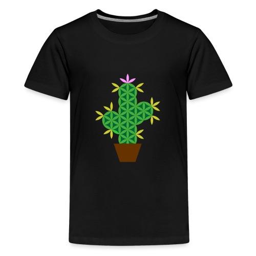 The Cactus Of Life - Sacred Plants - Teenage Premium T-Shirt