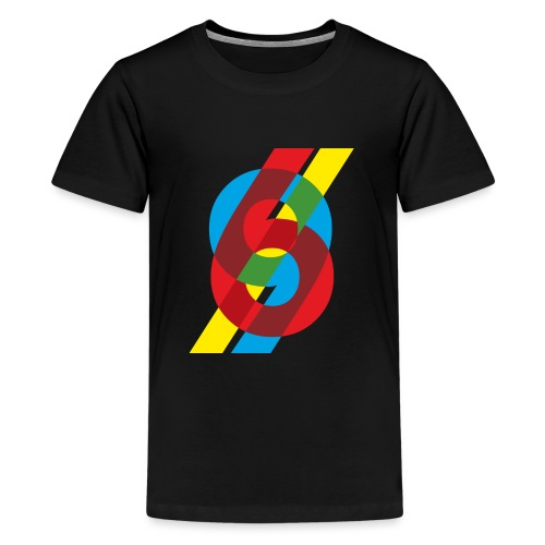 colorful numbers - Teenage Premium T-Shirt