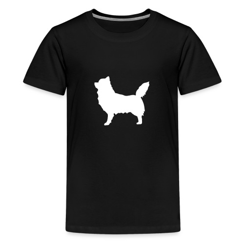 Chihuahua pitkakarva valkoinen - Teinien premium t-paita