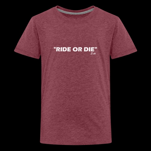 Ride or die (blanc) - T-shirt Premium Ado