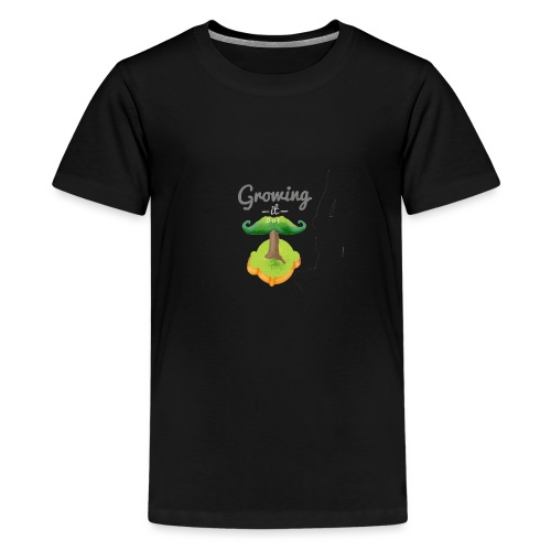 Moustache tree - Teenage Premium T-Shirt