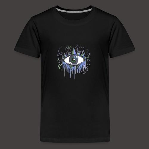 oeil vintage Bleu - T-shirt Premium Ado