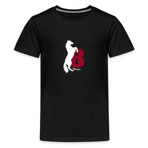 White_18Horses - Premium-T-shirt tonåring
