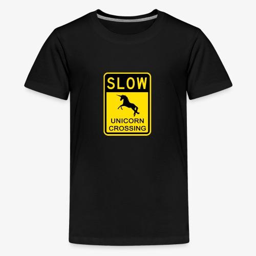 Ralentir ! Passage de licorne - T-shirt Premium Ado