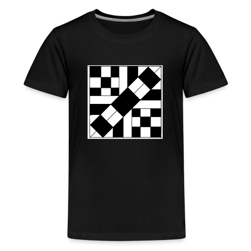 checker patterned art - Teenage Premium T-Shirt