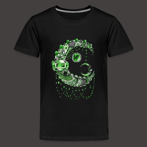 Lune dentelle Verte - T-shirt Premium Ado