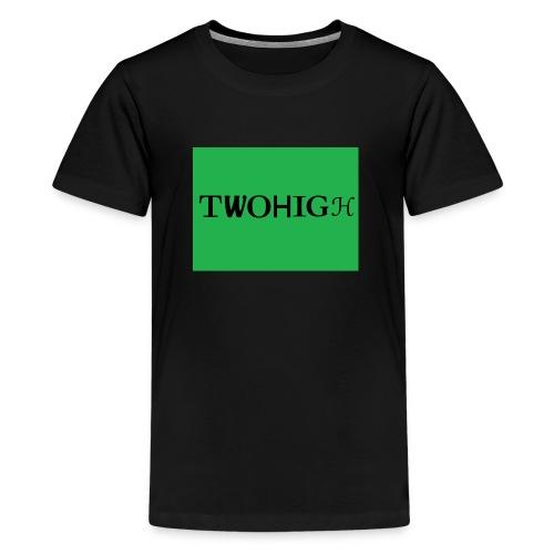 solid green background - Premium-T-shirt tonåring