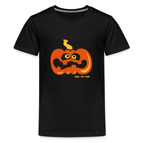 Scared Pumpkin - Teenage Premium T-Shirt