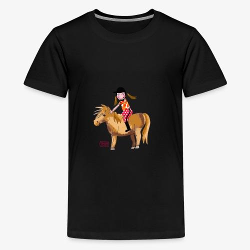 petite fille et poney - T-shirt Premium Ado