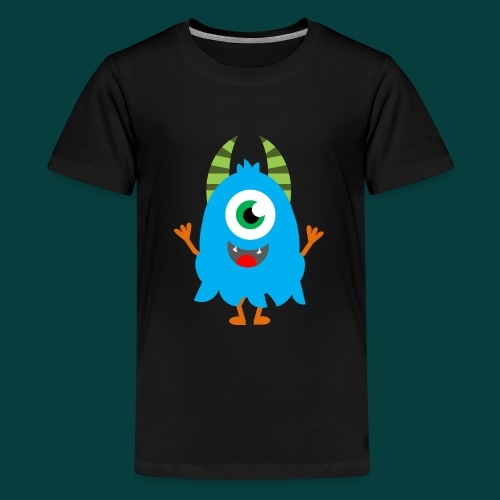 Lachendes Blaues Monster - Teenager Premium T-Shirt