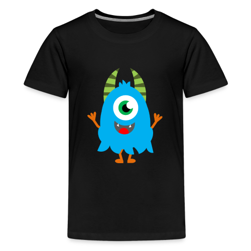 Lachendes Blaues Monster - Teenager Premium T-Shirt
