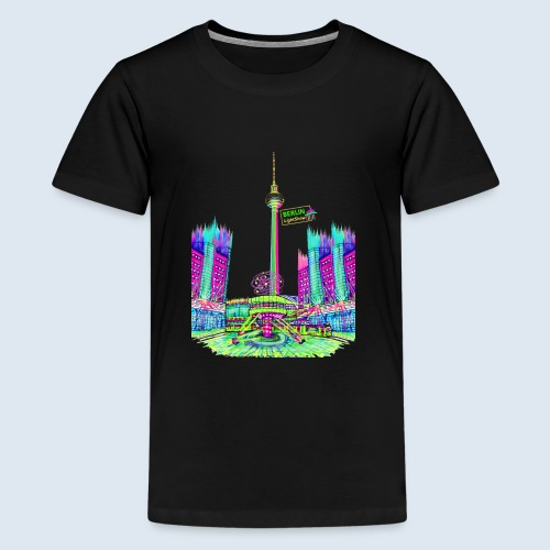 Berlin Alexanderplatz / BerlinLightShow /PopArt - Teenager Premium T-Shirt