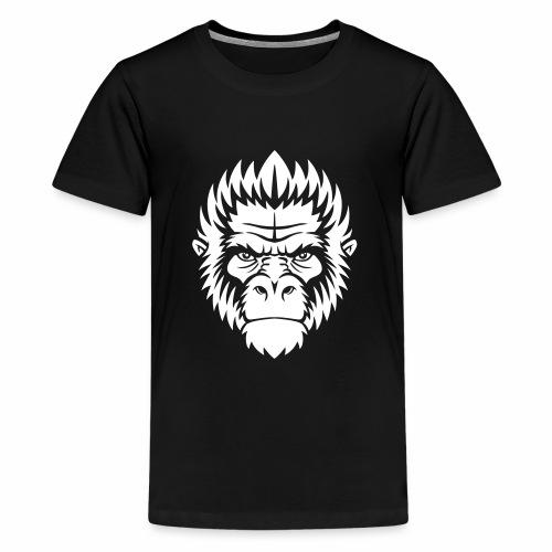gorilla white - T-shirt Premium Ado