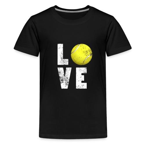 LoveTennis Shirt Ideal Gift For Tennis Players - Camiseta premium adolescente