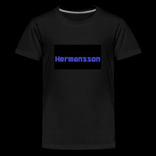 Hermansson Blå/Svart - Premium-T-shirt tonåring