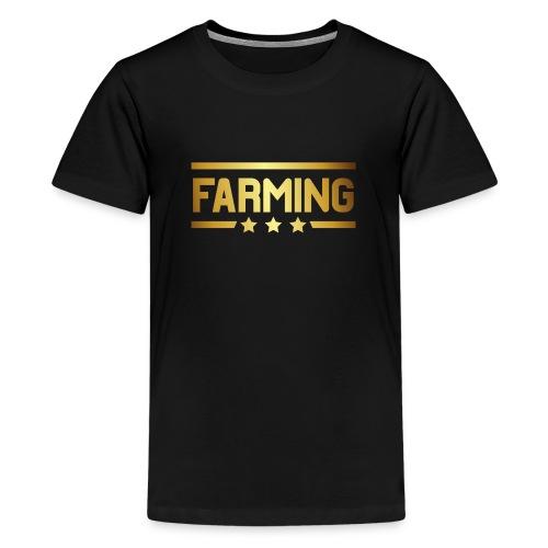 00364 Farming dorado - Camiseta premium adolescente