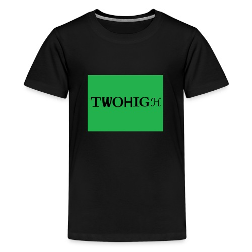 solid green background - Premium-T-shirt tonåring