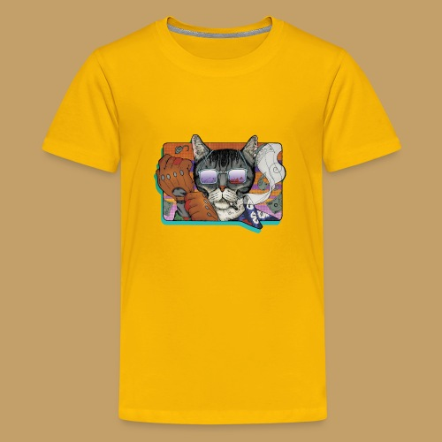 Crime Cat in Shades - Koszulka młodzieżowa Premium