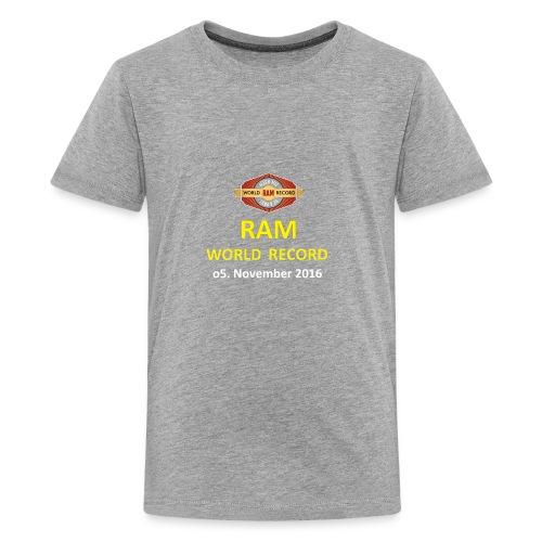 RWR gelb mit Datum (weiß) - Teenager Premium T-Shirt