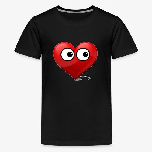 cœur avec yeux - T-shirt Premium Ado