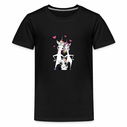 Familie Einhorn - Teenager Premium T-Shirt