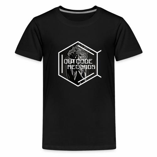 Outcode Records Art - Camiseta premium adolescente