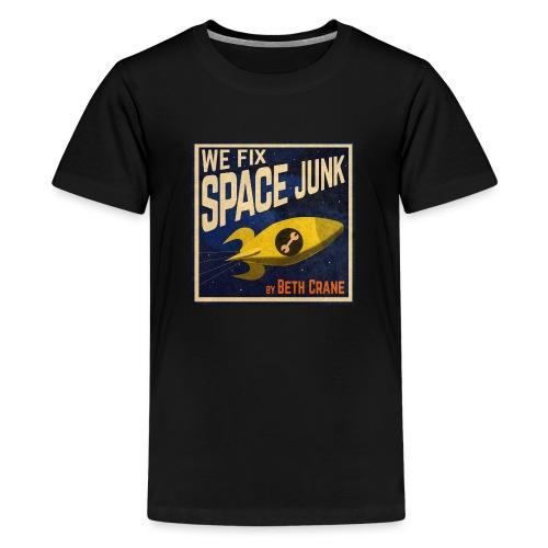 We Fix Space Junk logo (square) - Teenage Premium T-Shirt