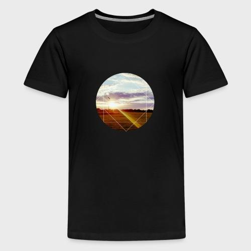 Sonnenuntergang am Platz - Teenager Premium T-Shirt