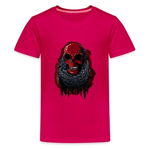 Red Skull in Chains - Teenage Premium T-Shirt