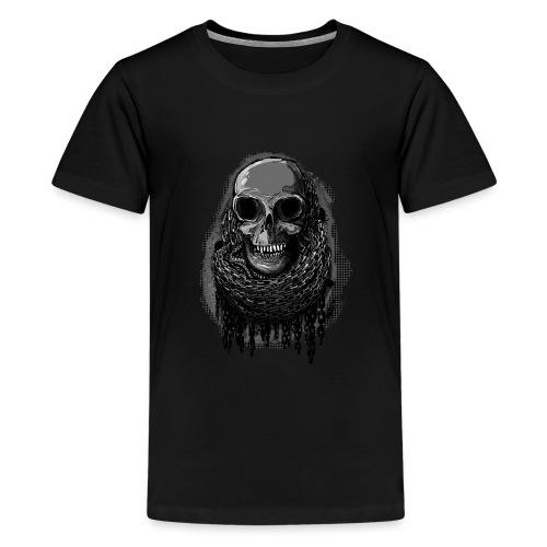 Skull in Chains - Teenage Premium T-Shirt
