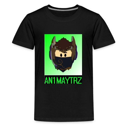 AN1MAYTRZ logo + title - Teenage Premium T-Shirt