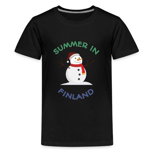 Summer in Finland - Teinien premium t-paita