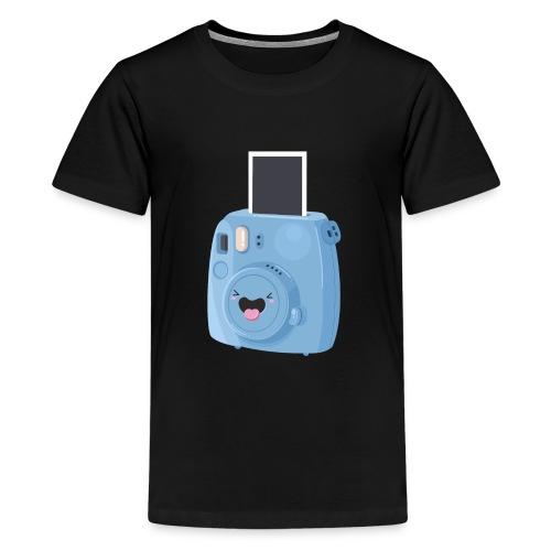 Appareil photo instantané bleu - T-shirt Premium Ado