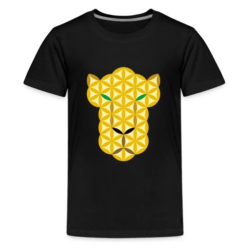 The Big Cat Of Life - Sacred animals, A01. - Teenage Premium T-Shirt