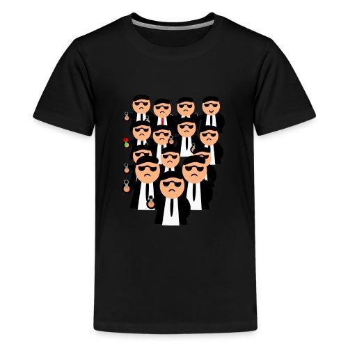 Männer in Anzügen und Pistolen - Teenager Premium T-Shirt