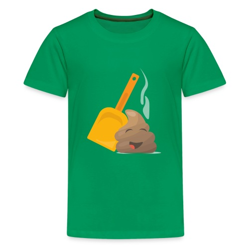 Funny Poop Emoji - Teenage Premium T-Shirt