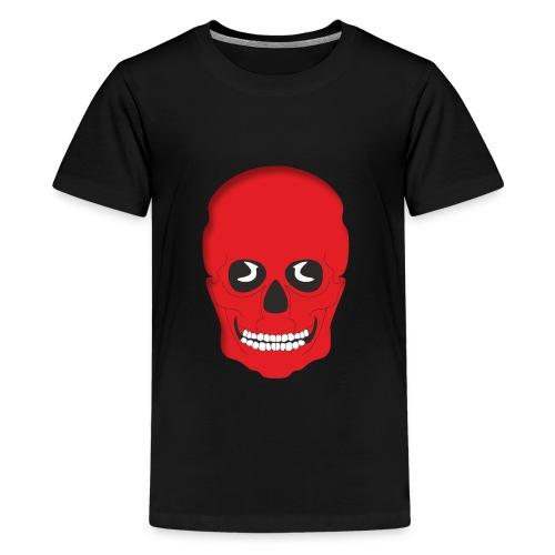 Calavera roja - Camiseta premium adolescente
