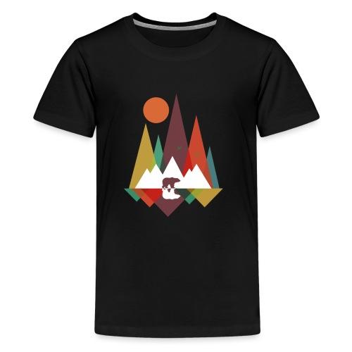 Bär in den Bergen - Teenager Premium T-Shirt