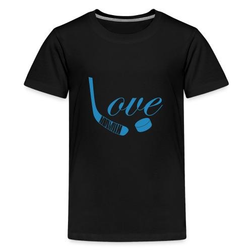 hockey love babyblue - Teenager premium T-shirt