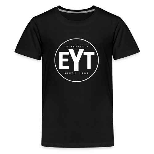 EYT Logo White - Teenage Premium T-Shirt