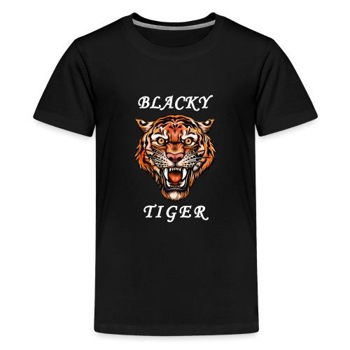 Blacky Tiger Design in Tattoo-Optik - Teenager Premium T-Shirt