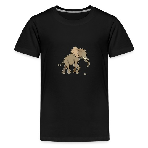African Elephant (black edition) - Premium-T-shirt tonåring