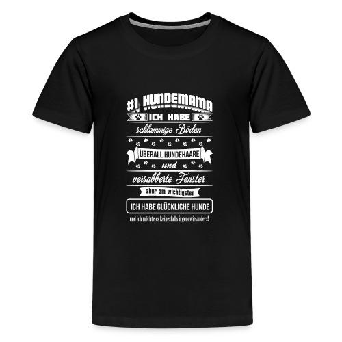 Hundemama weiss - Teenager Premium T-Shirt